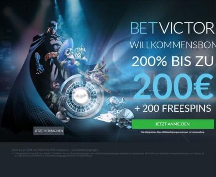 100% BIS ZU 250€ + 100 Free Spins