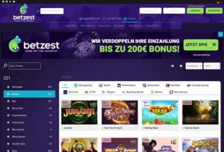 5€ ohne Einzahlung + 200% bis zu 150€ (min. 10€ Einzahlung) + 100 Freispiele