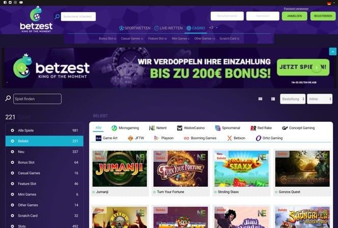 Betzest Casino Bonus ohne Einzahlung