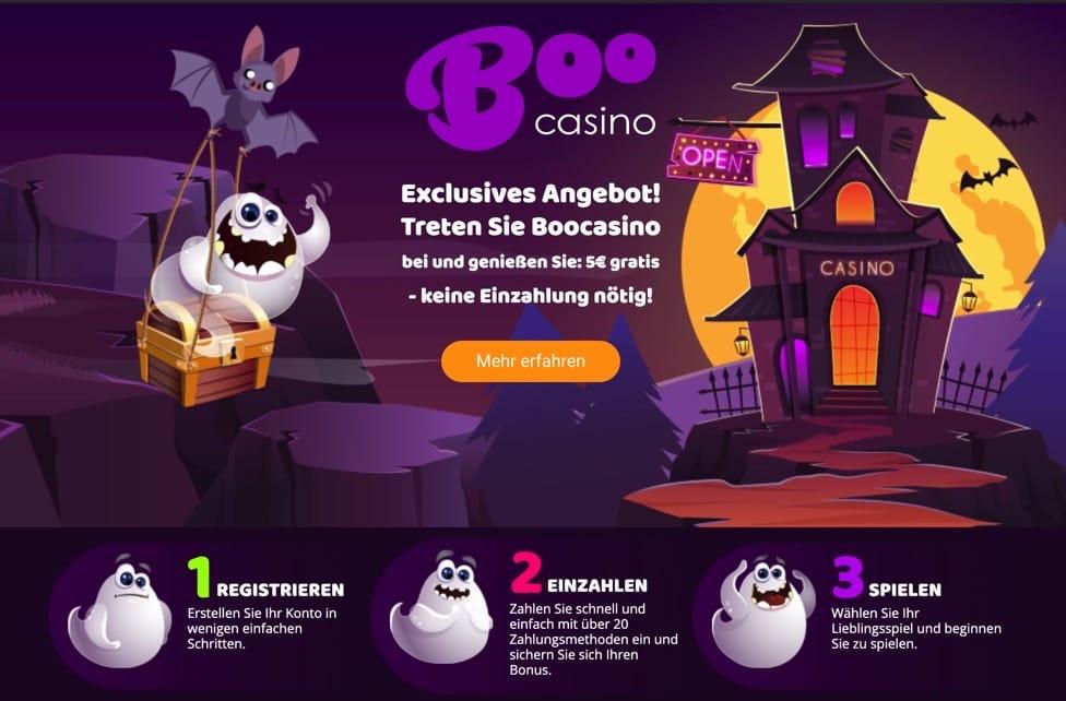 Boo Casino ohne Einzahlung