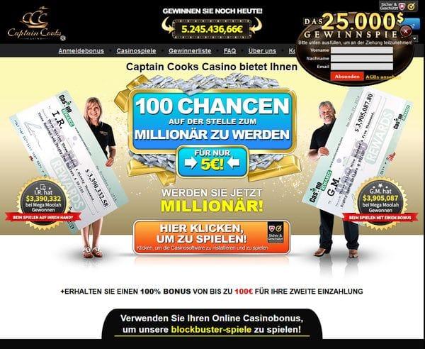 Captain Cooks Casino im Test