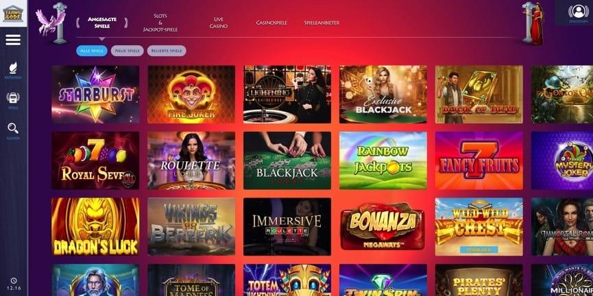 Casino Gods online Casino beschenkt mit Freispiele