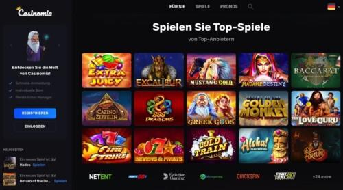 Casinomia Österreich bietet 300 Freispiele