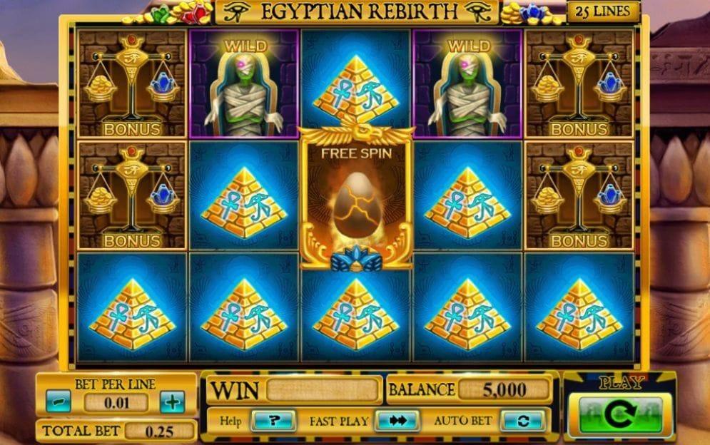 Egyptian Rebirth Geldspielautomat