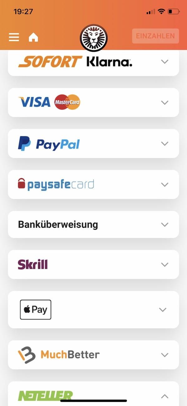 leovegas - zahlen mit paypal, applePay und muchbetter