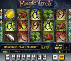 Magic Luck Slotmaschine ohne Anmeldung