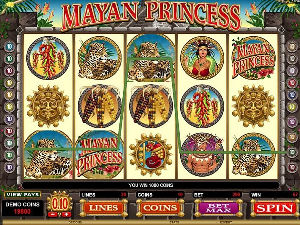 Mayan Princess online Geldspielautomat