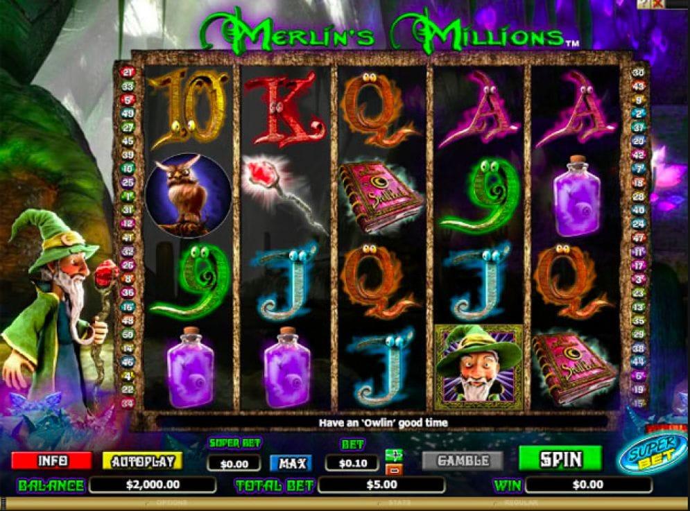 Merlin's Millions Casino Spiel