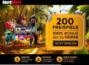 NetBet Casino Übersicht – wie bekommt man 75 Freispiele?