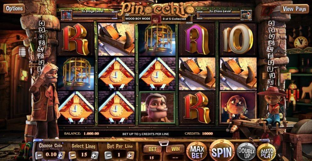 Pinocchio Video Slot
