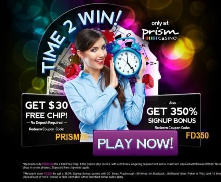 $30 gratis Bonus mit Gutscheincode: PRISM30