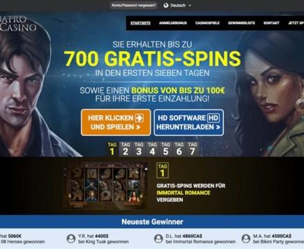 Bis zu 700 Gratis Spins ab 10€ Einzahlung + bis zu 100€ Einzahlungsbonus
