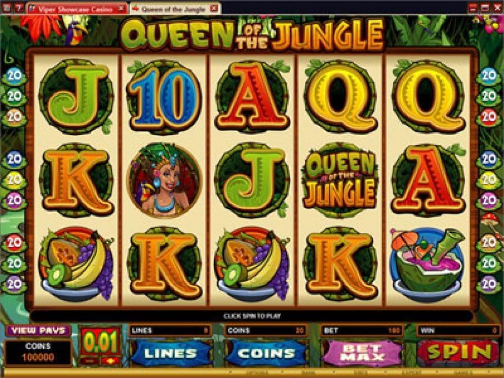 Queen of the Jungle online Casino Spiel