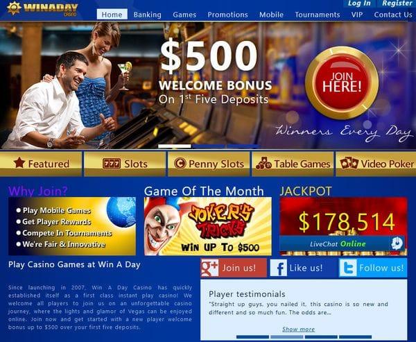 Win A Day Casino im Test
