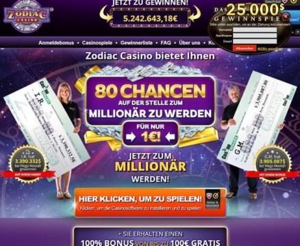 80 Grats Spins für Jackpot Slots oder 20€ für 1€ Einzahlung